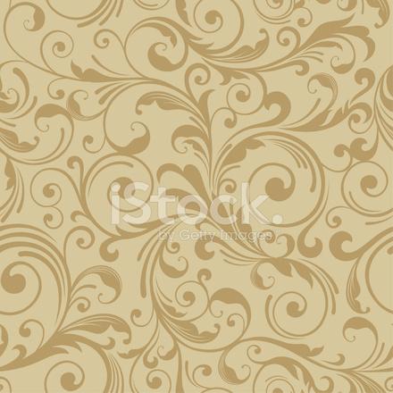 Decoretive Damask Pattern Background Stock Vector