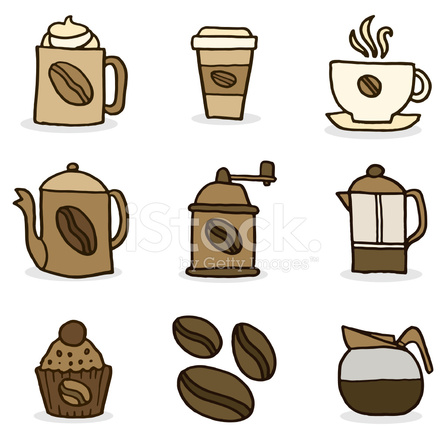 coffee doodle icon set stock vector freeimages com coffee bean clipart png coffee bean clipart black and white