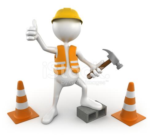 Trabalhador Da Constru 231 227 O Civil 3d Isolado Com Tra 231 Ado De