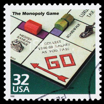 Usa Monopoly Game Postage