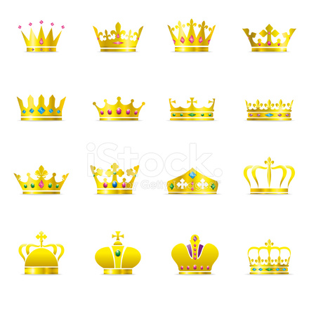 Crown Symbols Color Series Stock Vector Freeimages