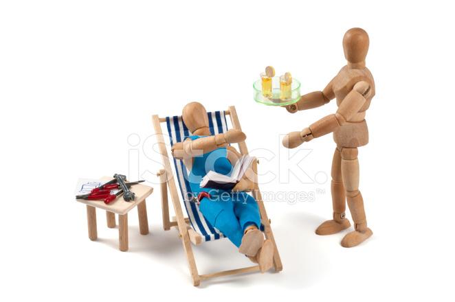 Sedia A Sdraio In Legno : Idraulici sogno manichino di legno nella sedia a sdraio con