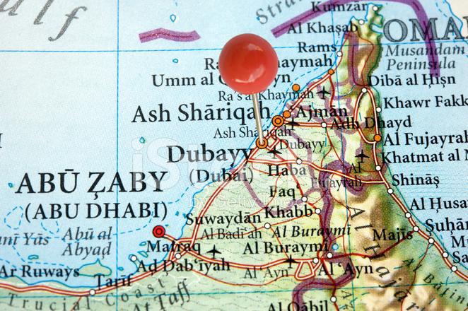 Dubai on A Map Stock Photos - FreeImages.com