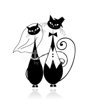 Groom and bride cats wedding for your design stock vector groom and bride cats wedding for your design junglespirit Images