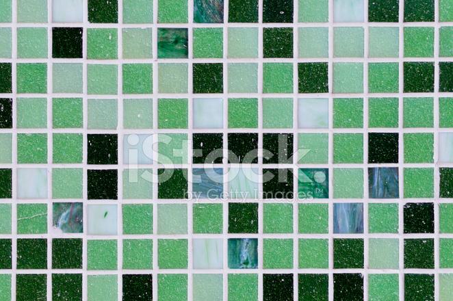 Groene Mozaiek Tegels : Patroon van de achtergrond van de textuur van grunge groene mozaïek