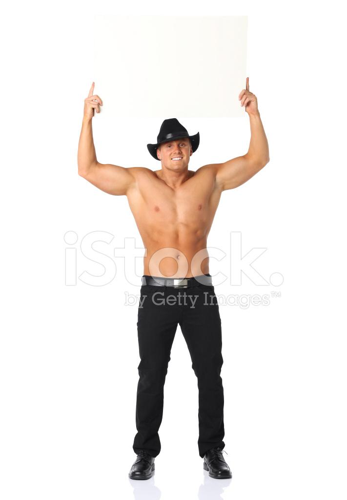 Muskulösen Mann MIT Erhobenen Finger Stockfotos - FreeImages.com