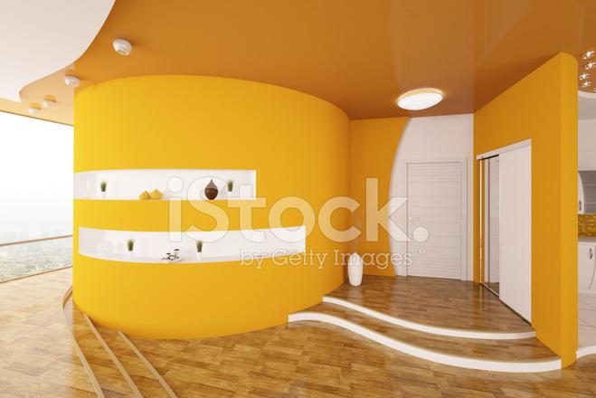 Modern interieur van entree hal 3d render stockfotos freeimages.com