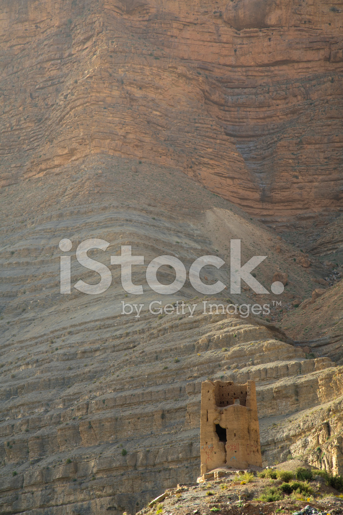 Dades Valley Morocco Desert Sand Sahara Ouarzazate Stock
