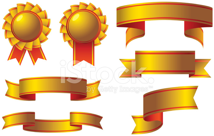 gold ribbon award stock vector freeimages com