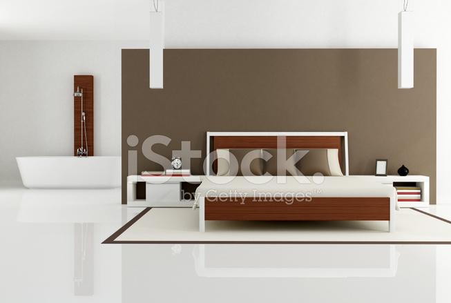 Vasca Da Bagno In Camera Da Letto : Lavandino su di un piedistallo e un rolltop vasca da bagno nella