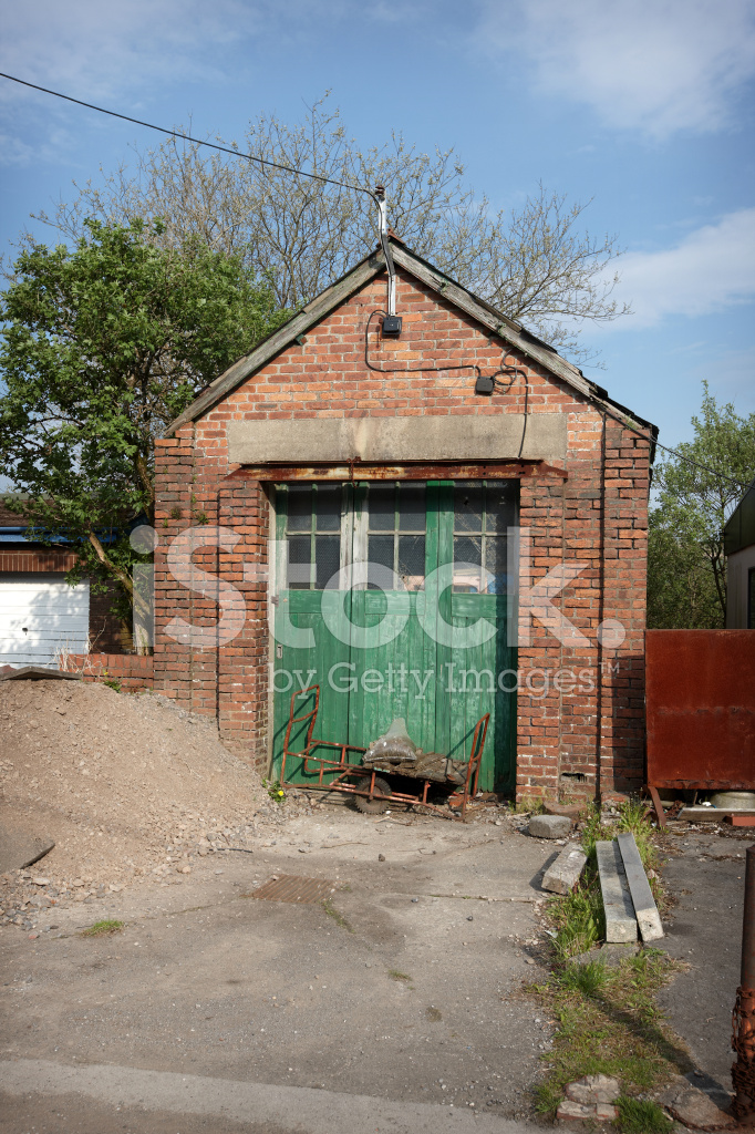 Old Red Brick Garage Stock Photos Freeimages Com