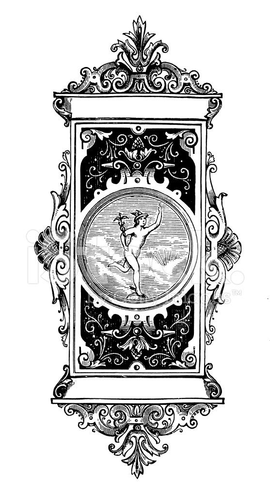 Letterhead With Mercury, Roman God of Trade Stock Vector ...