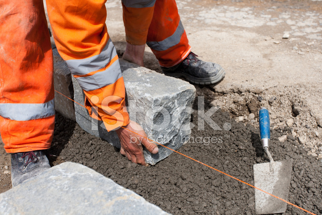 Granite Curbs on Construction Site Stock Photos - FreeImages com