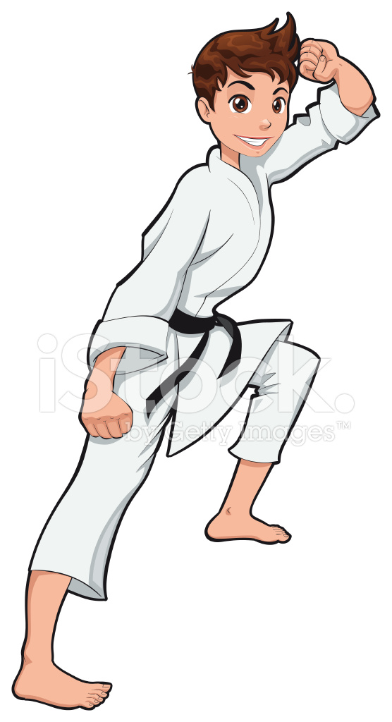 Young boy karate stock vector freeimages