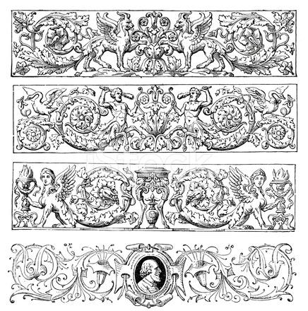 Gothic Design Elements Stock Vector