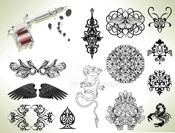 Tattoo Flash Design Elemente Stock Vector Freeimages Com