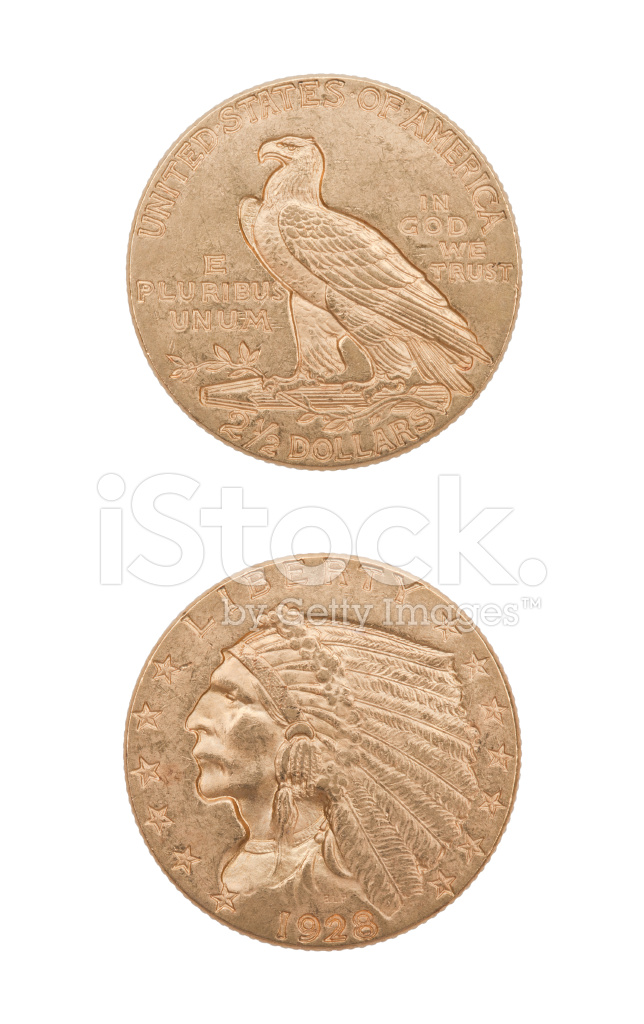 Usa Gold 25 Dollar Münze Stockfotos Freeimagescom