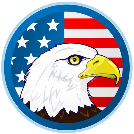 Bandera Del Águila Calva Y Americano Stock Vector - FreeImages.com
