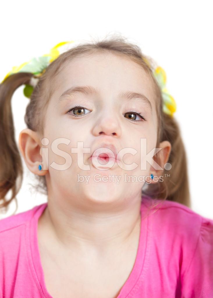 Blonde facial girl