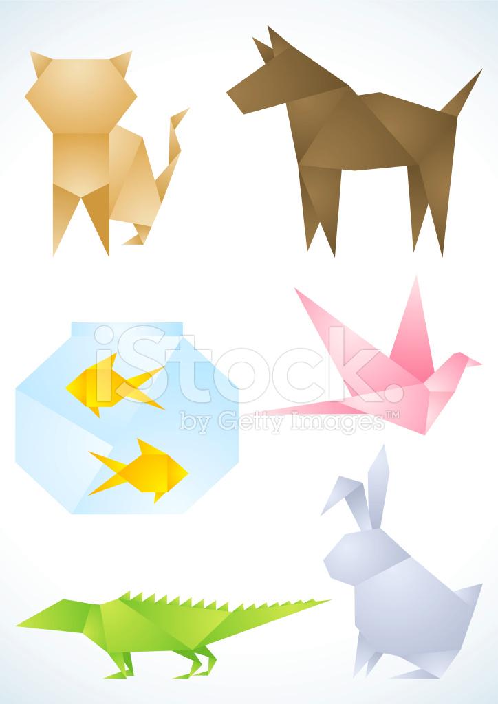 Как из цветной бумаги сделать разных животных из