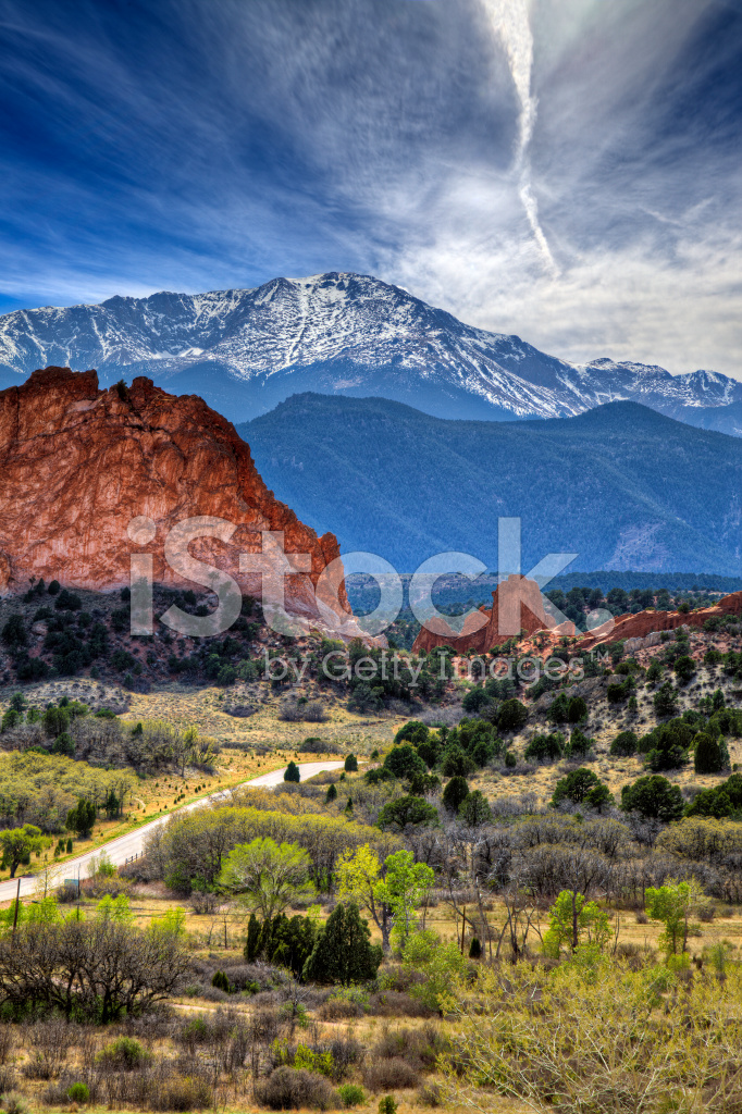 Garden Of The Gods Park In Colorado Springs Co Stock Photos