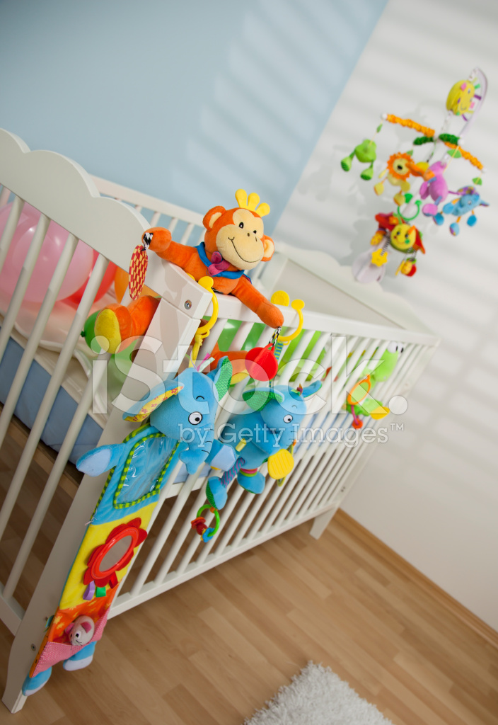 Soft Crib Toys : Crib full of soft baby toys stock photos freeimages