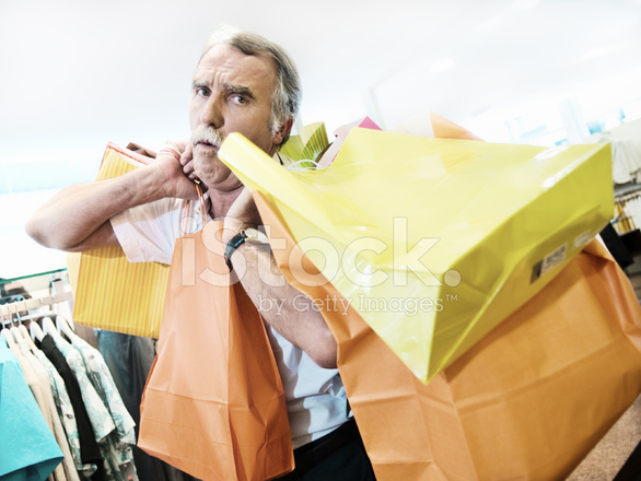 Mature adults shopping
