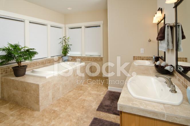 Modernes Badezimmer Mit Abgesenkter Badewanne