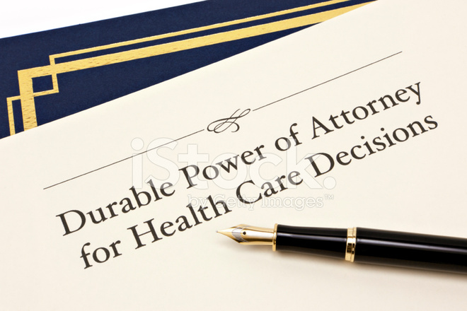 Durable Power Of Attorney For Health Care Decisions Stock