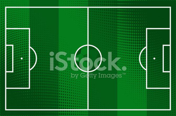 Fussball Fussballfeld Stock Vector Freeimages Com