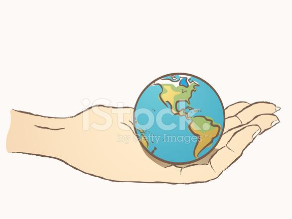 Mundo En El Dibujo De La Mano Stock Vector Freeimagescom