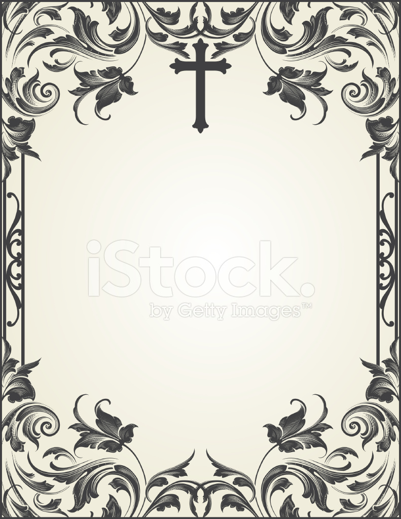 Cross Flourish Frame Scrollwork Stock Vector - FreeImages.com