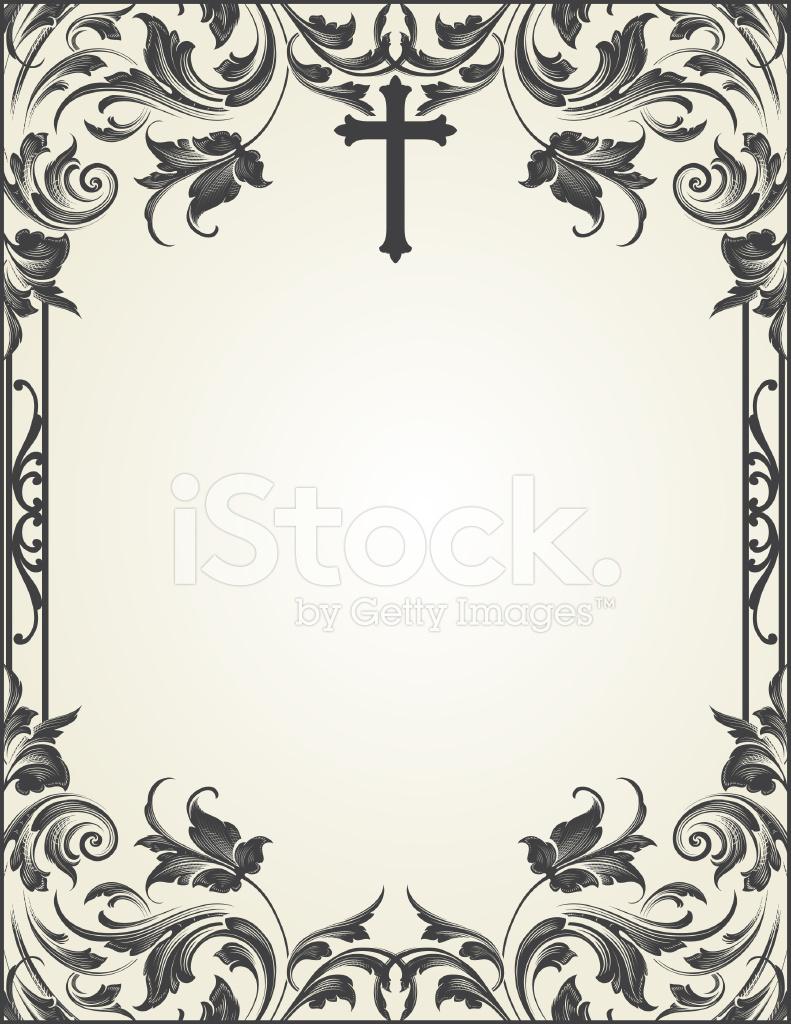 cross flourish frame scrollwork