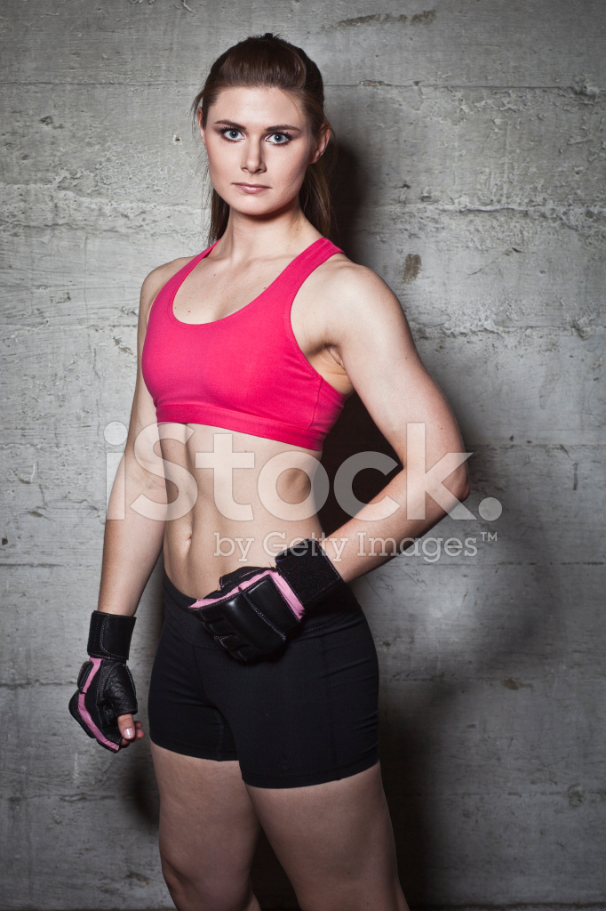 Pinkgymgirl Squishy Collection : Fit Girl Wearing Boxing Gloves Stock Photos - FreeImages.com