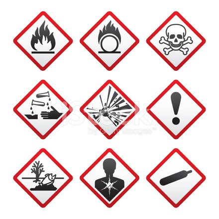 Ghs Hazard Warning Safety Labels Stock Vector Freeimages