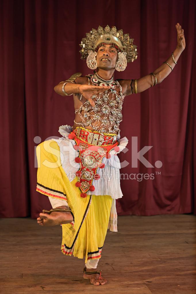 Kandyan Dancer During The Show Kandy Sri Lanka Stock Photos Freeimages Com