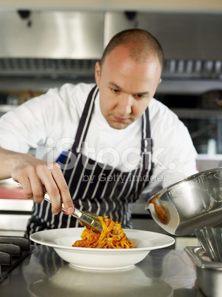 Chef Cooking Pasta Stock Photos Freeimages Com