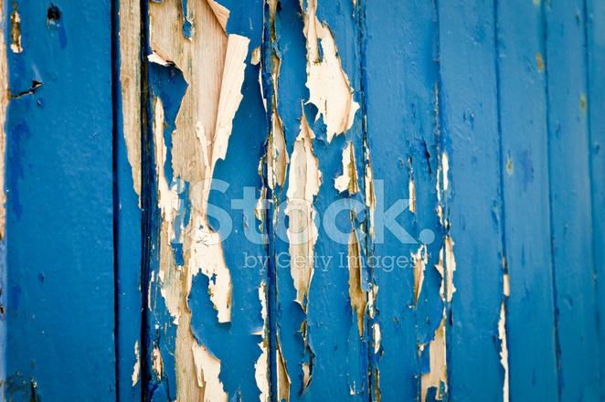 벗 겨 지기 쉬운 파란 페인트 스톡 사진 - FreeImages.com