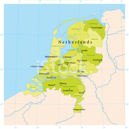 Netherlands Vector Map Stock Vector - FreeImages.com