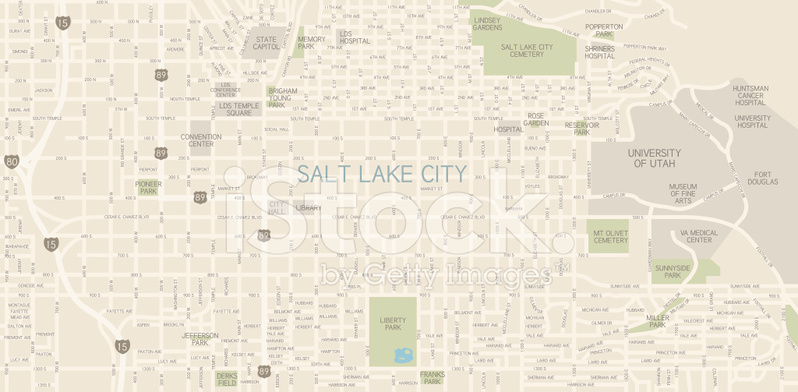Va Hospital Utah Map.Salt Lake City Downtown Map Stock Vector Freeimages Com