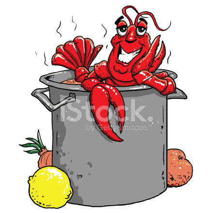 Happy Crawfish IN A Big Pot Stock Vector - FreeImages.com