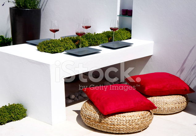 outdoor chill out area stock photos. Black Bedroom Furniture Sets. Home Design Ideas