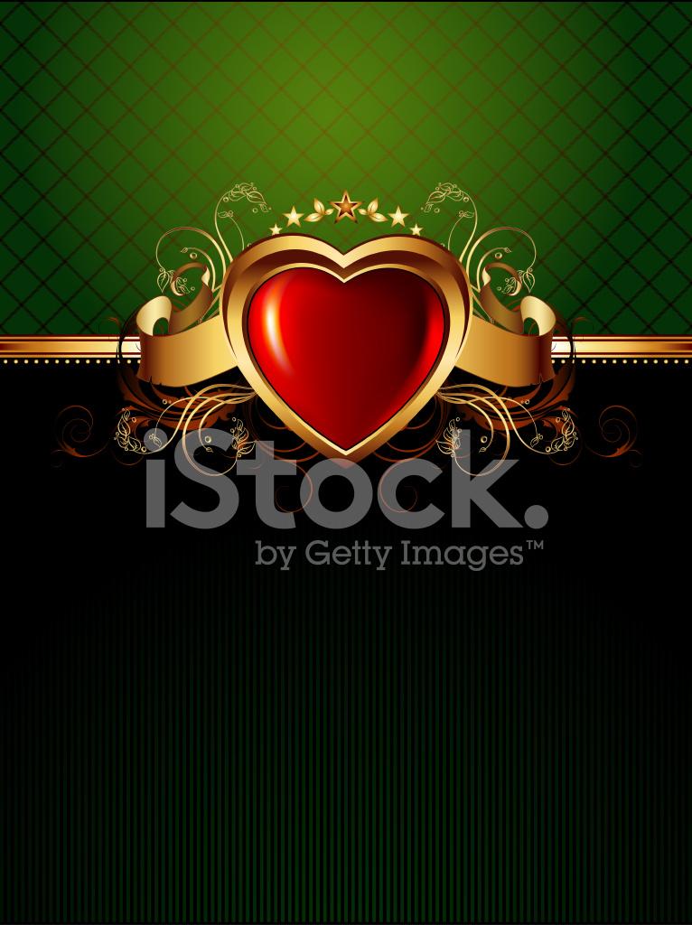 Marco Adornado Con Corazón DE Oro Stock Vector - FreeImages.com