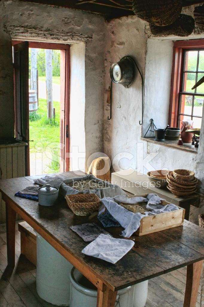 Landlichen Bauernhaus Kuche Stockfotos Freeimages Com