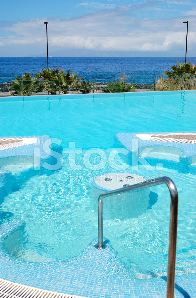 Swimming Pool With Jacuzzi At Luxury Hotel Tenerife Island Spa