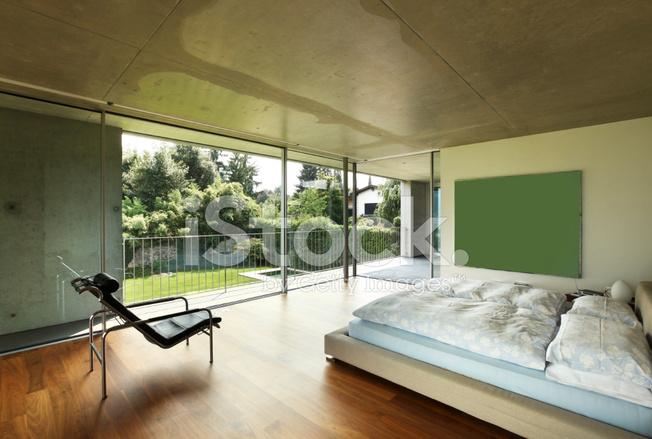 Architektur modernes haus innen schlafzimmer stockfotos freeimages