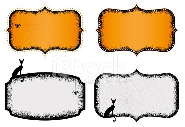halloween frames stock vector freeimages com