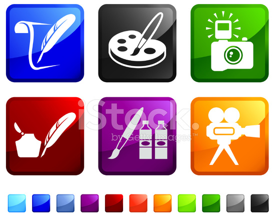 Painting and Visual Art Royalty Free Vector Icon Set