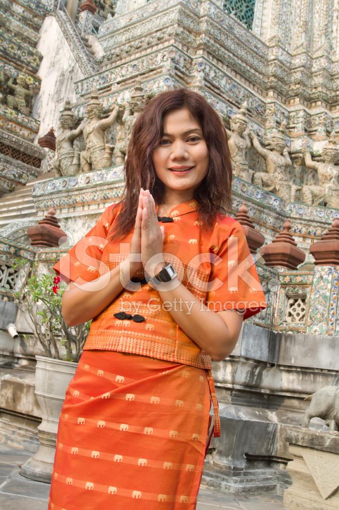 Thai woman greetings stock photos freeimages premium stock photo of thai woman greetings m4hsunfo
