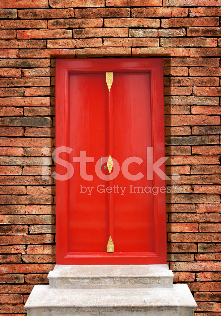 Premium Stock Photo of Red Wood Door Thai Old Style & Red Wood Door Thai Old Style Stock Photos - FreeImages.com
